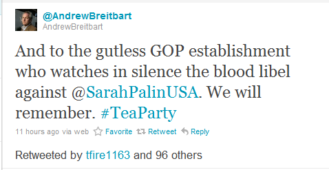 Breitbart's Blood Libel Tweet