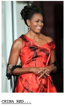 Michelle Obama red dress
