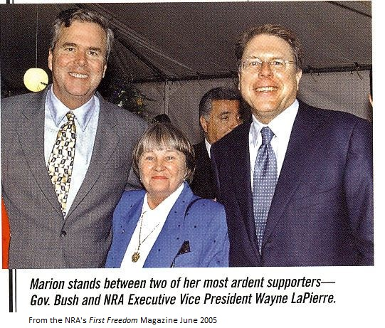 Marion Hammer With Jeb Bush and Wayne LaPierre
