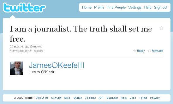 O'Keefe tweet